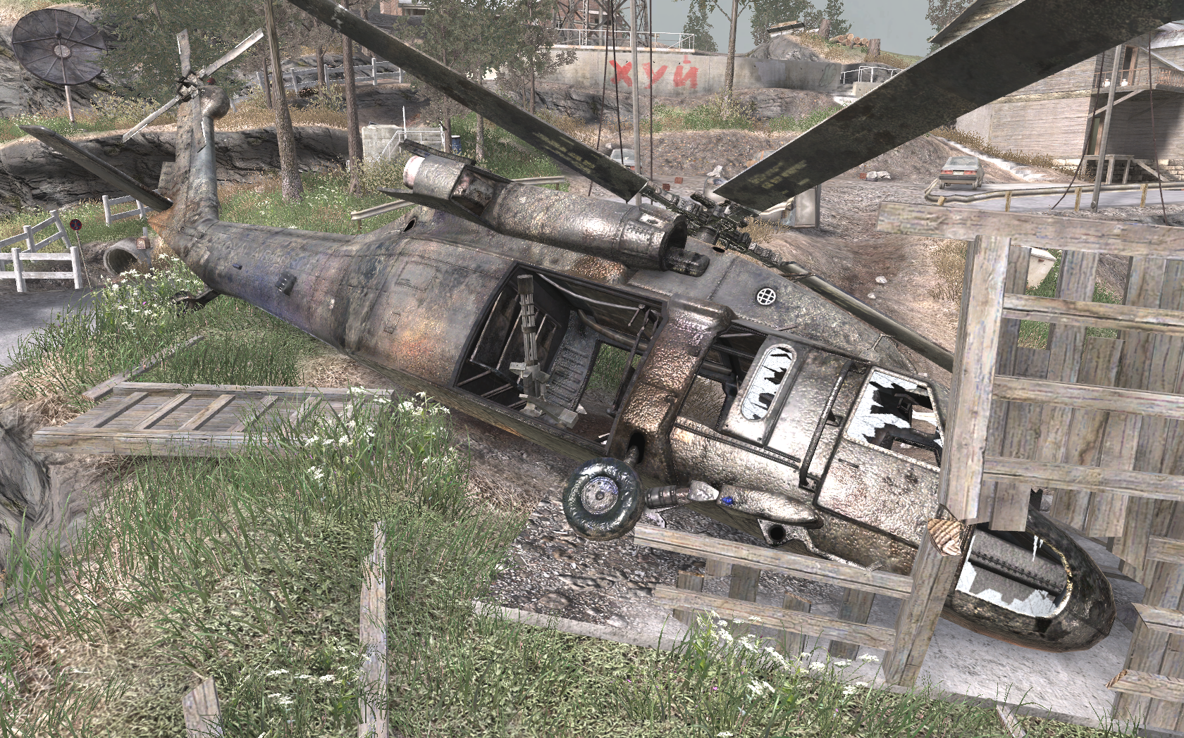 Image - Crashed UH-60 Heat COD4.png   Call of Duty Wiki ...
