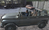 Victor Zakhaev driving a jeep COD4
