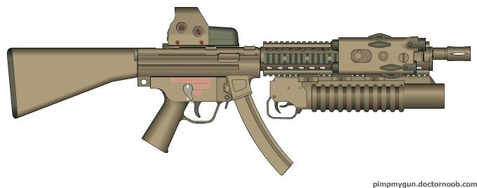 Airsoft gun AEG Heckler & Koch MP6 SD6, Umarex AEG Machineguns ...