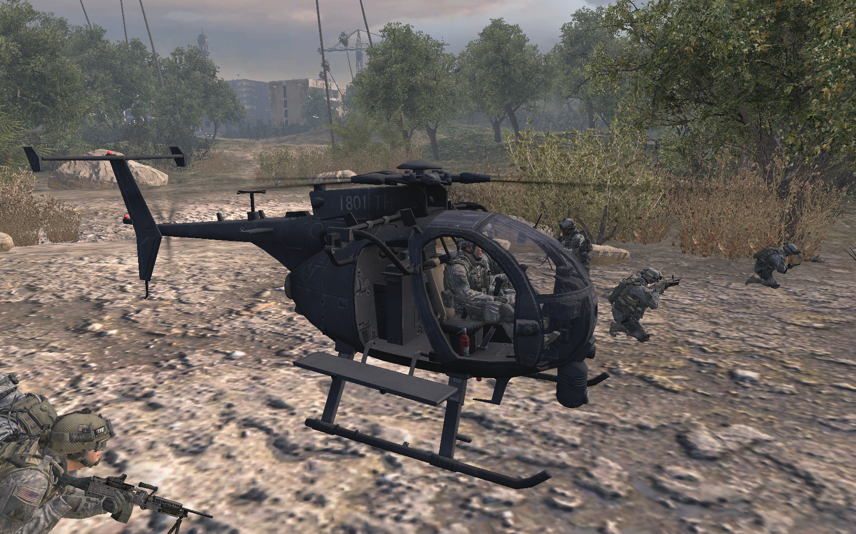 Image - MH-6 Little Bird Team Player MW2.png   Call of ...