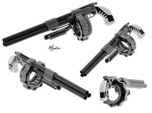 Hydra Tri-Barrel Shotgun