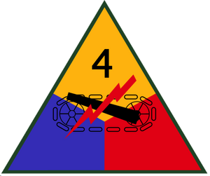 American 4th Armored Division Insignia