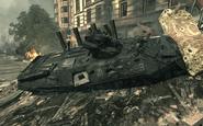 Destroyed BTR-80 Goalpost MW3