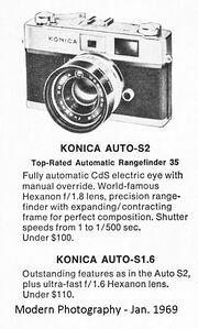 Konica Ad 1969 - Modern Photography B&W
