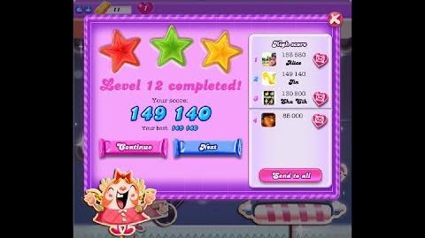Candy Crush Saga Dreamworld Level 12 ★★★ 3 Stars