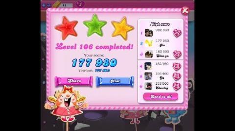 Candy Crush Saga Level 106 ★★★ NO BOOSTER