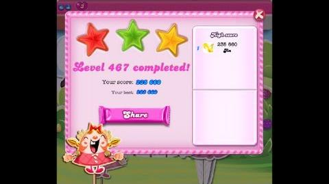 Candy Crush Saga Level 467 ★★★ NO BOOSTER 235 660 points