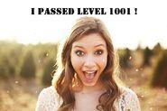 I passed level 1001