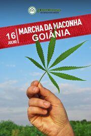 Goiania 2011 July 16 Brazil marijuana march 2