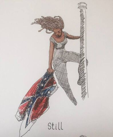 File:Columbia 2015 June 27 Bree Newsome in South Carolina.jpg