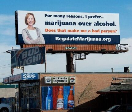 Denver Colorado 2012 April. I prefer marijuana to alcohol