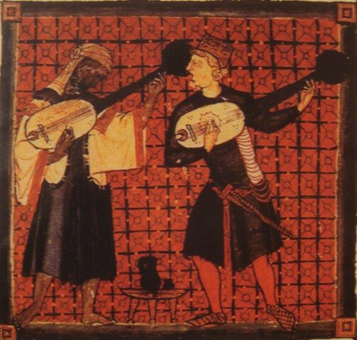 File:Christian and Muslim playing lutes 13th century Spain.jpg