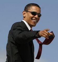 Obama wearing sunglasses