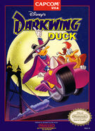 Darkwing Duck Capcom NES box art