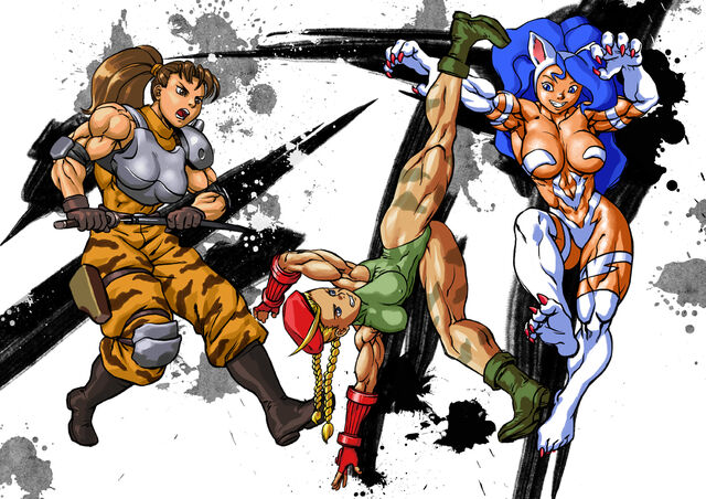 File:Capcom muscle girls.jpg