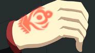 Kazumi with Nuba Clan Symbol