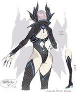 Skull Witch, Nemain (Design-Back)