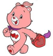 Love-a-Lot Bear with a lunchbox (2007's version)