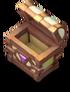 Bronze open chest