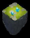 Blue crystal mine