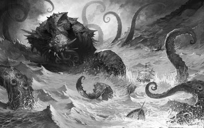 Monster kraken dead