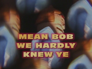 Mean Bob, We Hardly Knew Ye
