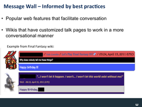 Message Wall & Wiki Nav Slide16