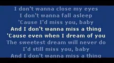 Aerosmith - I Dont Want To Miss A Thing (Armageddon Soundtrack)