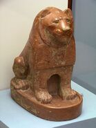 Ancient Egyptian pottery lion