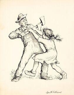 Please Don't Kill It, Charlotte's Web, page 2 illustration, 1952, GM Williams-1-