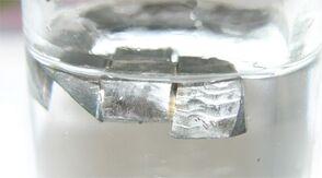 Lithium in paraffin