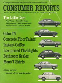 Consumer Reports Jan. 1971