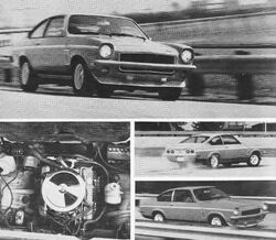 Vega V8 prototype-Hot Rod July 1972