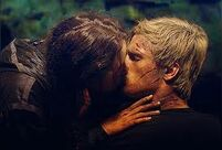 Katniss kisses Peeta