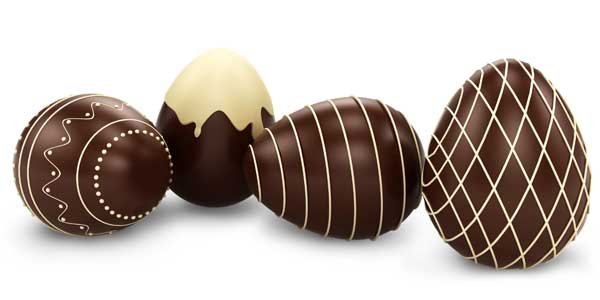 chocolate easter eggs for overclocking your children