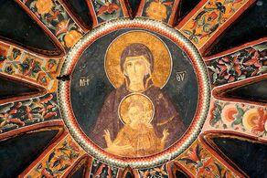 Virgin Mary Fresco in the Chora Church