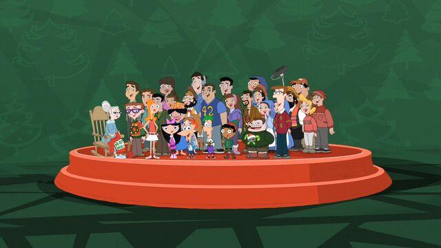 File:PnF Cast Singing WeWishYouAMerryChristmas.jpg