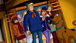 The Scooby gang in Haunted Holidays
