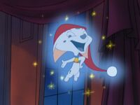 Cadpig as the Ghost of Christmas Past