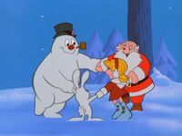 Frosty and friends dancing