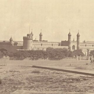 George Craddock. 1880s. <i>Railway Station at Lahore</i>, <a href=