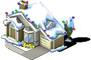 Suburban Home snow