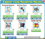 Items For Haunted Hotel