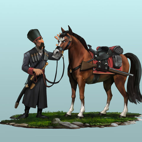 Concept art of the Cossack