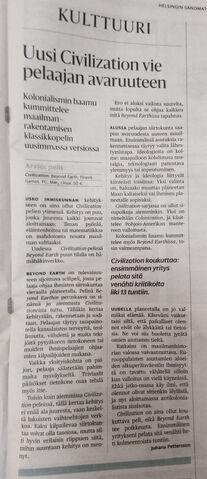 File:Beyond Earth review in Helsingin Sanomat.jpg