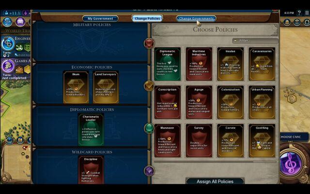 File:Civilization VI - Devs play as Brazil screenshot - Policies.jpg