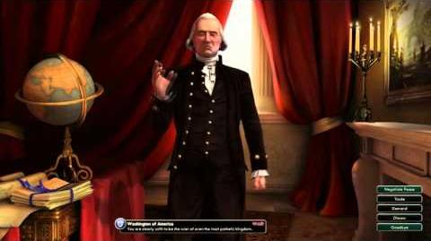 Civilization V Leader Washington of America Attacked