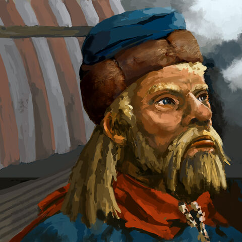 Artist's depiction of Harald Bluetooth