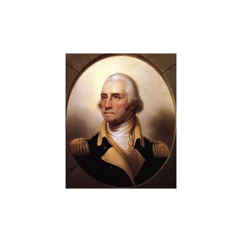 George Washington, painted by Rembrandt Peale (c. 1850)