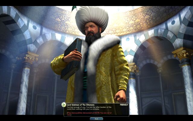 File:Suleiman publicly denounces you (Civ5).jpg